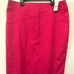NWT NY&Co Pink Pencil Skirt Size 12